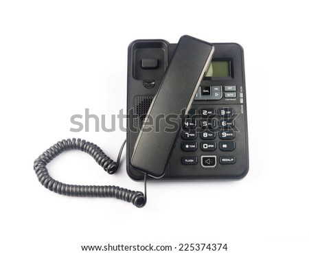 Phone isolated on the white - stock photo