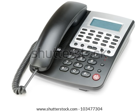 Phone isolated on white. Modern phone, high detailed photo.