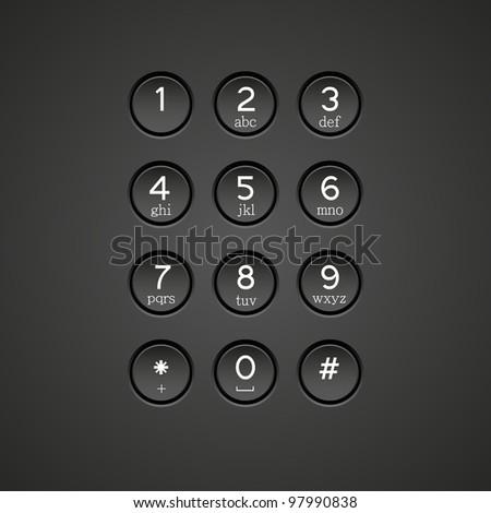 phone keypad background - stock photo