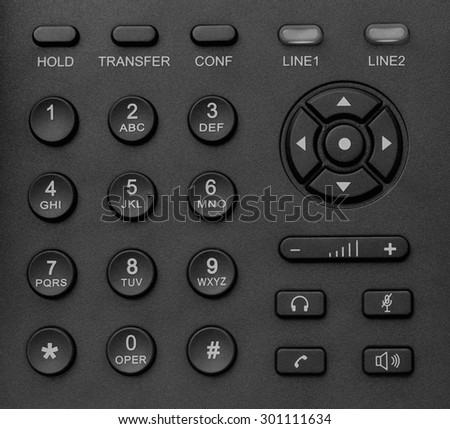 phone keypad in black and white tone
