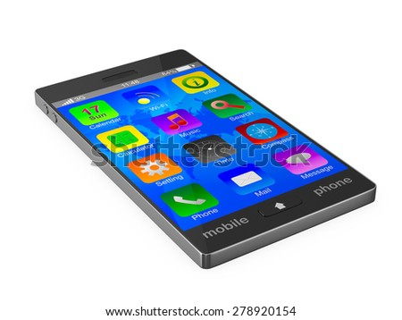 phone on white background. Isolated 3D image - stock photo