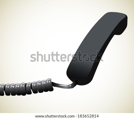 Phone reciever - stock photo