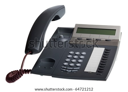 phone reciever off isolated over white background - stock photo