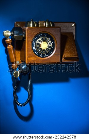 phone stylized antique - stock photo