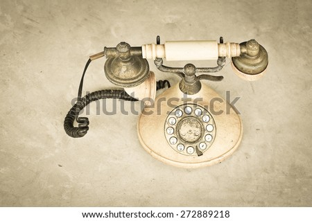 Phone vintage , retro style - stock photo