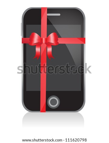 phone with a bow as a gift