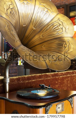 phonograph  - stock photo