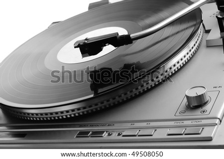 Phonograph turntable with a disk