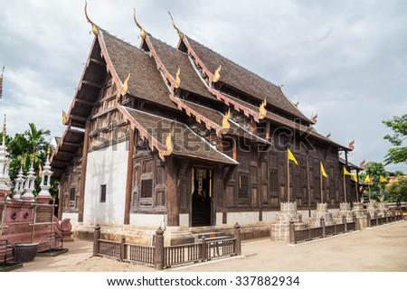 Phonrat Witthayakon, Wat Phan Tao school, Chiang Mai, Thailand - stock photo