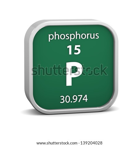 Phosphorus material on the periodic table. Part of a series. - stock photo