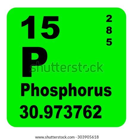 Phosphorus Periodic Table of Elements - stock photo