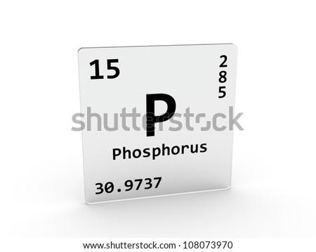 Phosphorus symbol - P - element of the periodic table - stock photo