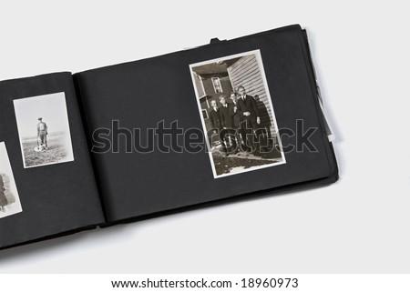 Photo Album with The Gentlemen - stock photo