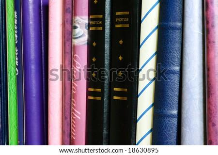 Photo albums - stock photo