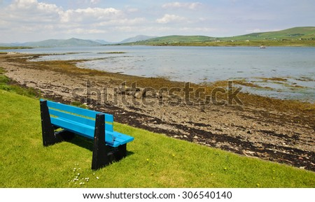 photo beautiful scenic rural landscape from ring kerry ireland - stock photo
