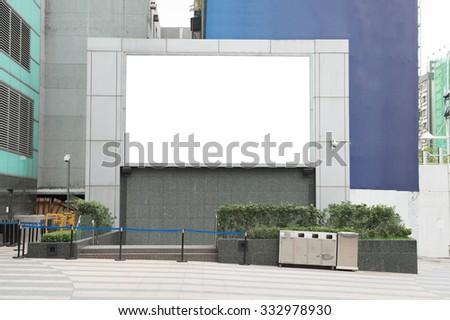 Photo blank signboard on the street - stock photo