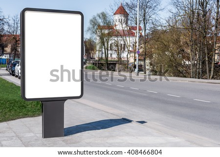 Blank Mock Vertical Street Poster Billboard Stock Photo - Street advertising