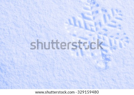 Photo blue snow and snowflakes - stock photo