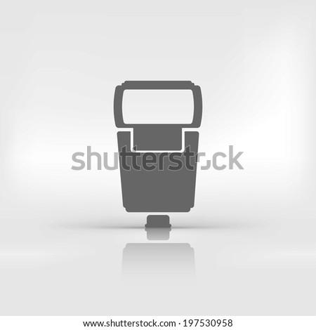 Photo camera flashlight - stock photo