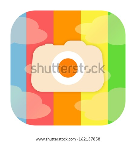 Photo camera icon - stock photo