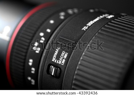 Photo Camera Lens - Close up - stock photo