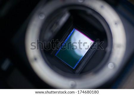 Photo camera sensor ccd - stock photo
