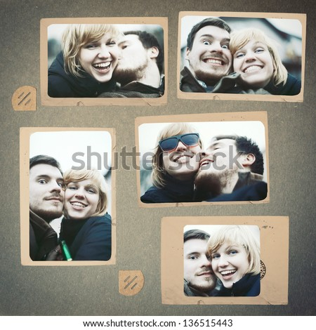 Connu Photo Collage Vintage Album Couple Love Stock Photo 136515443  SD63