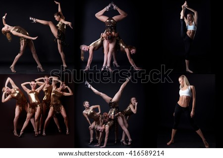 Photo collection of sexy go-go dancers posing