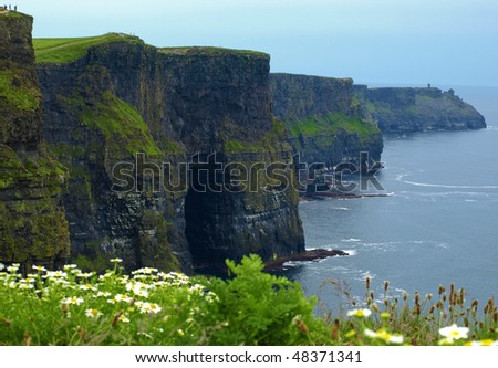 photo famous cliffs of moher,sunet capture,west of ireland