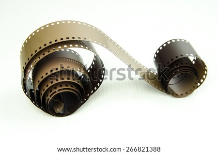 photo film on white background - stock photo