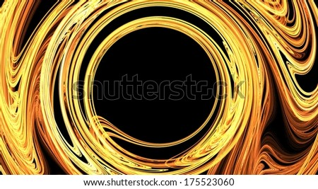 Photo frame. Abstract fractal background	 - stock photo