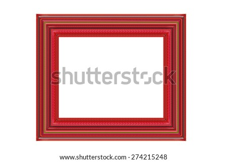 Photo frame isolate on white background - stock photo