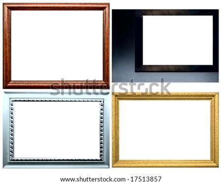 photo frame isolated on a white background - stock photo