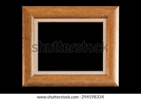 Photo frame isolated on black background
