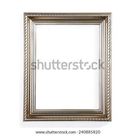Photo frame isolated on white - stock photo