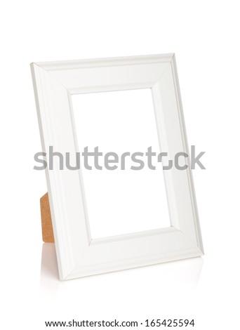 Photo frame. Isolated on white background - stock photo