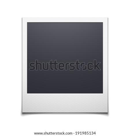 Photo frame isolated on white background, polaroid illustration - stock photo