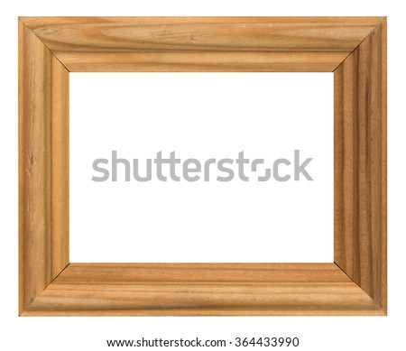 photo frame isolated on white background with clipping path - stock photo