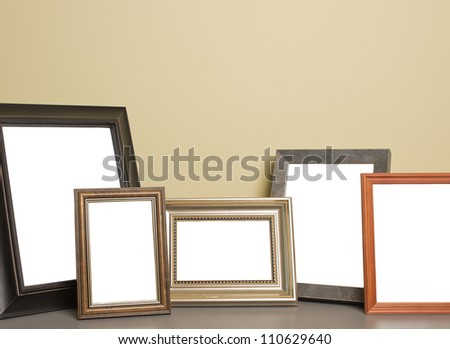 photo frame on the table - stock photo