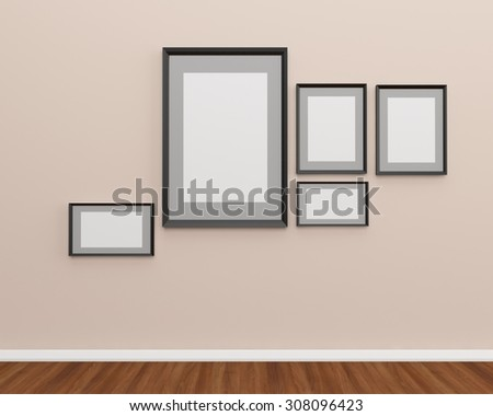 Photo frame on the wall idea for your work
