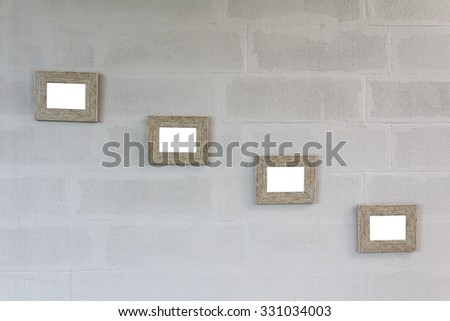 Photo Frame  on wall in coffee shop for background