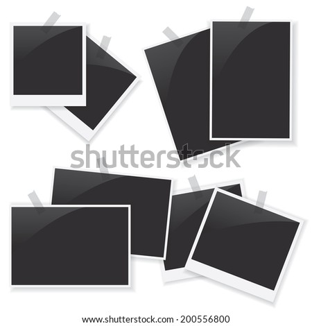 Photo frame set illustration - stock photo
