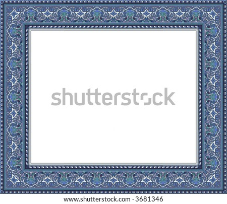 Photo frame with oriental ornaments