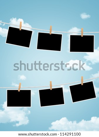 Photo frames - stock photo