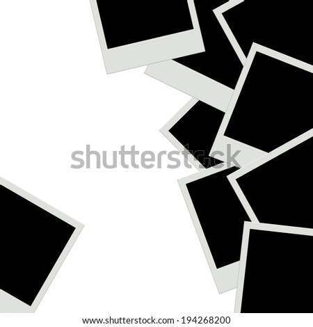 Photo frames background. Instant film. Raster version. - stock photo