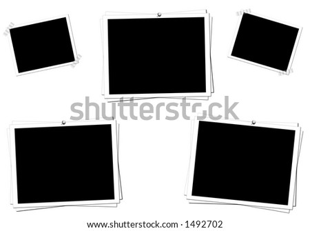 Photo frames for easy use. - stock photo