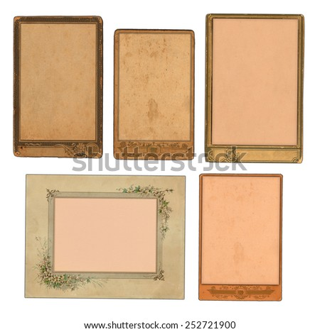 Photo frames from last century - stock photo