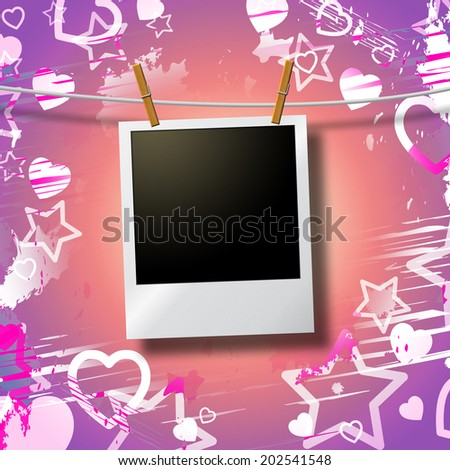 Photo Frames Indicating Empty Space And Copy - stock photo