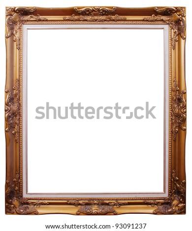 Photo frames isolated. - stock photo