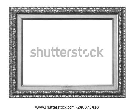 Photo frames isolated on white background. - stock photo